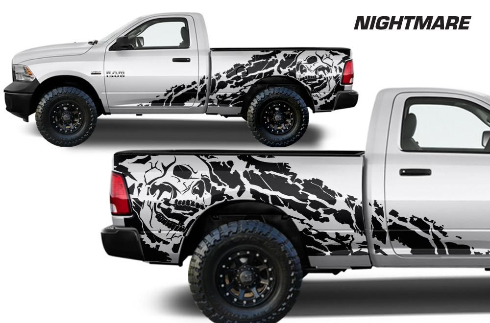 Resultado De Imagen De Skull Vehicle Wraps Truck Wraps Graphics Dodge Trucks Ram Truck Graphics