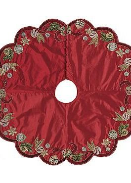 Make a bold and beautiful statement beneath your Christmas tree this Holiday season with the Deck The Halls Tree Skirt that boasts stunning medley of tightly places sequins and beading.