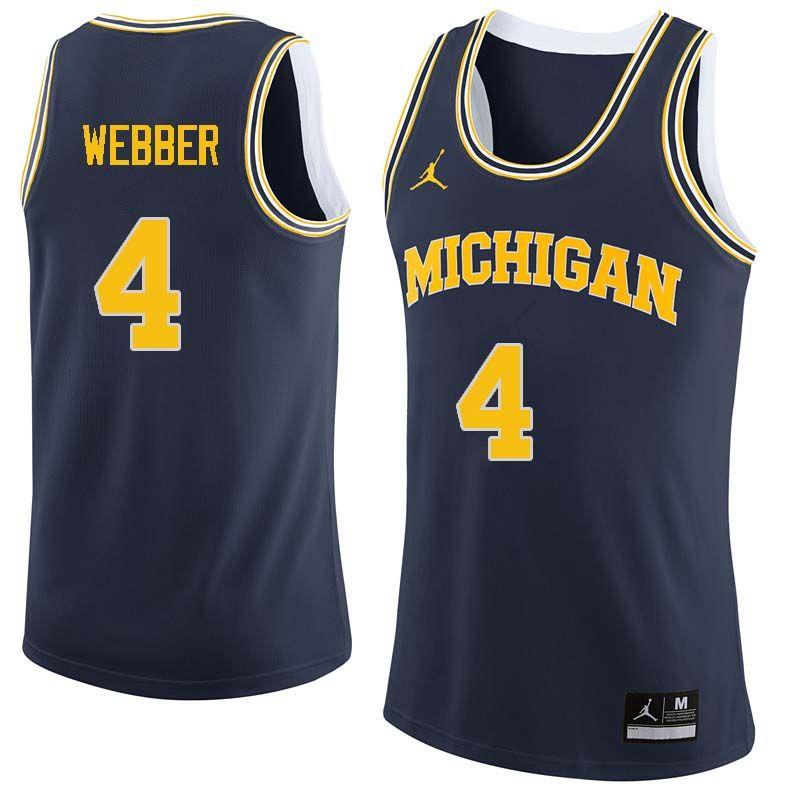 Men 4 Chris Webber Michigan Wolverines College Basketball Jerseys Sale Navy College Basketball Jersey Michigan Wolverines Basketball Wolverines Basketball