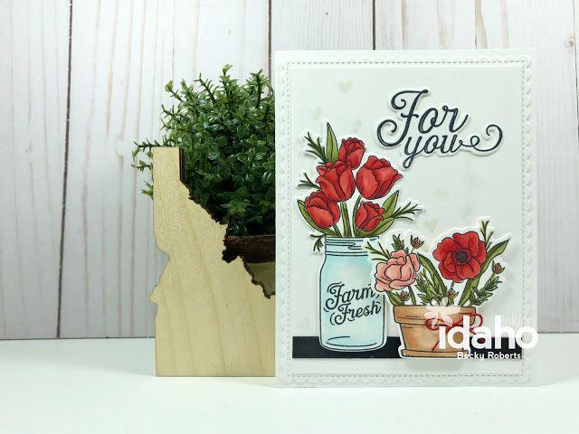 mandy's flowers card  cards handmade birthday cards