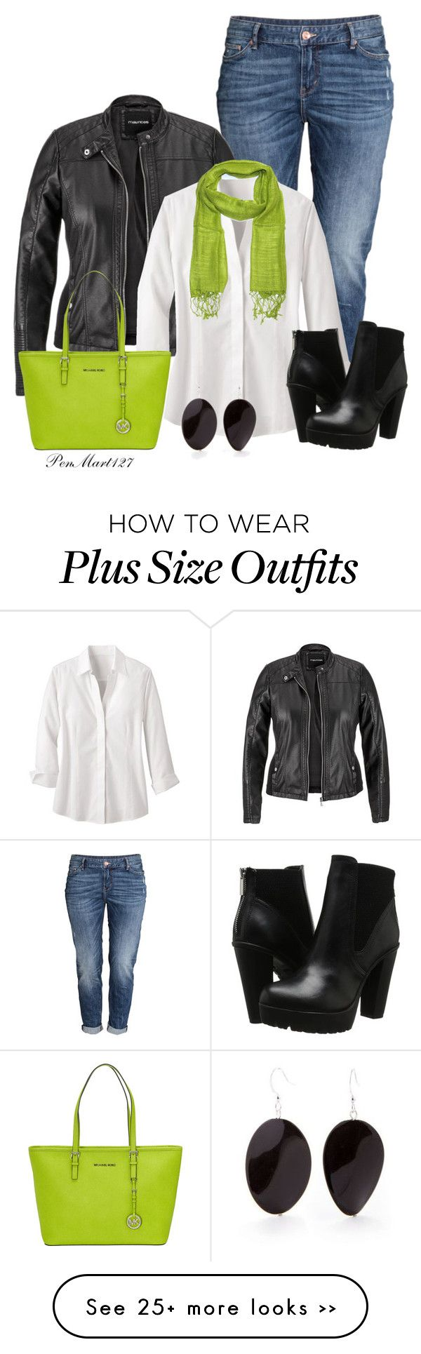 """""""Get your Moto Running Entry 1 #PlusSize"""" by penny-martin on Polyvore featuring H&M, maurices, Foxcroft, Steve Madden, MICHAEL Michael Kors and Kim Rogers"""