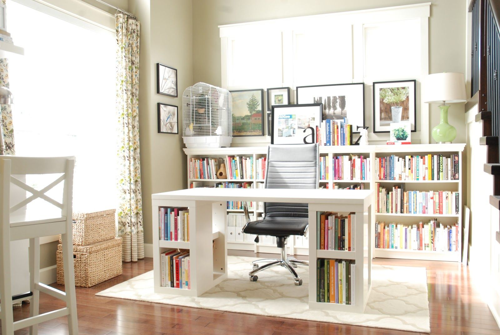 White Home Office Furniture ikea office table. zamp.co