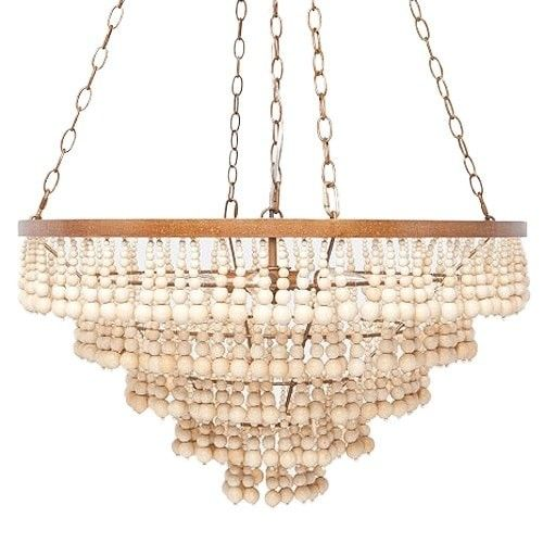 Natural materials bring an organic vibe to the opulent silhouettes natural materials bring an organic vibe to the opulent silhouettes of this tiered chandelier available mozeypictures Images
