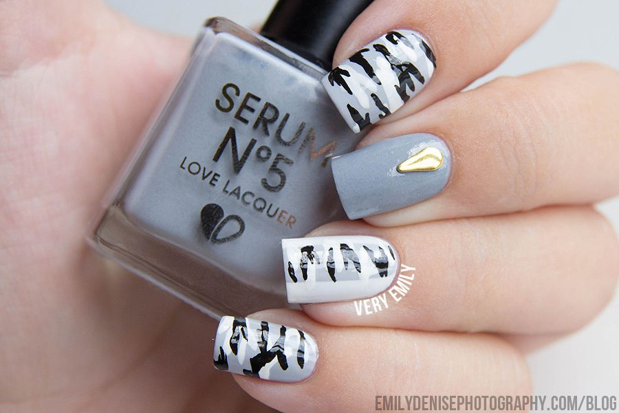 B/W Camouflage Nails - B/W Camouflage Nails Nail Art Pinterest Camo Nails, Camouflage