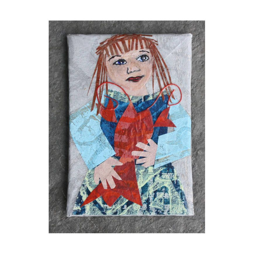 Alta Holding A Lobster Layered Paper Collage Refrigerator Magnet