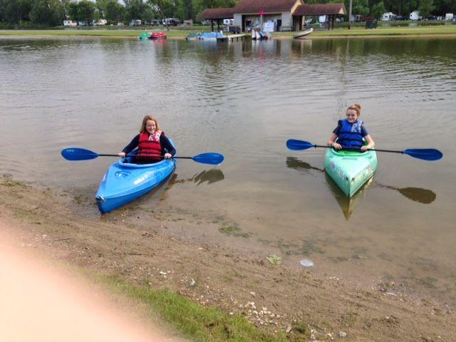 Emma & Karly Kayaking at Spring Lake. July 2016 (our granddaughters)