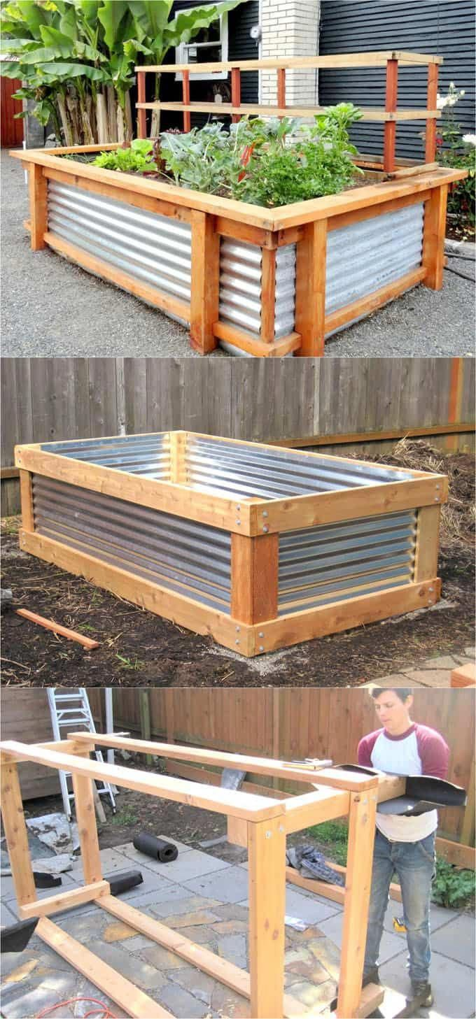 28 most amazing raised bed gardens, with different materials, heights, and many creative variations. Great tutorials and ideas on how to build raised beds ! A Piece of Rainbow #erhöhtegartenbeete