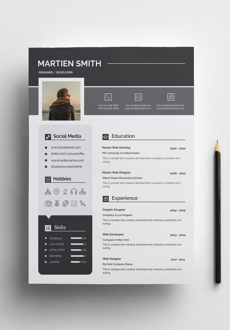 Smith Clean Resume Template #73597