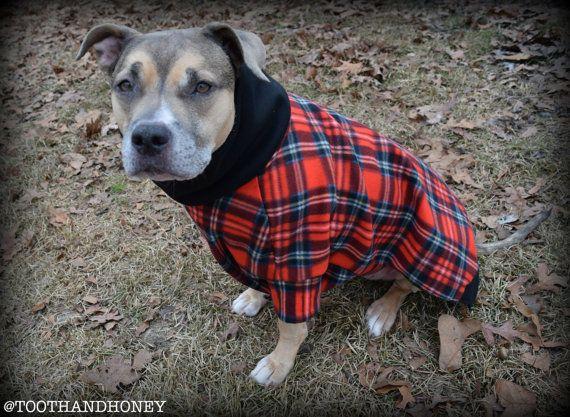 Large Dog Jacket Coat Pitbull Large Breed Male By Toothandhoney