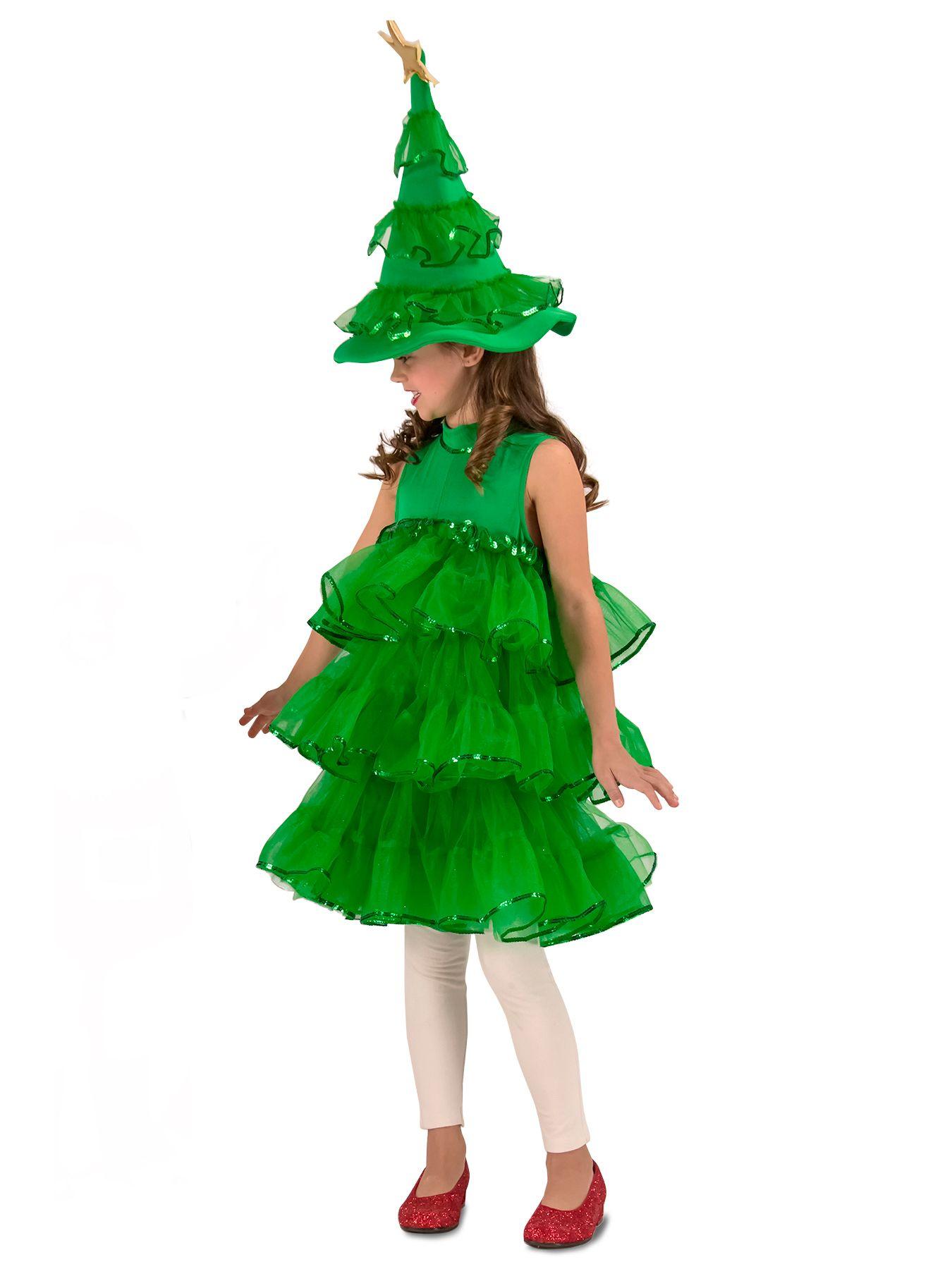 Christmas Additional Info Glitter Christmas Tree Child Costume for ...