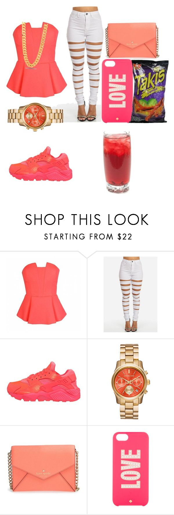 """Untitled #6"" by kirabvtch ❤ liked on Polyvore featuring Belleza, Ally Fashion, NIKE, Kate Spade y King Ice"