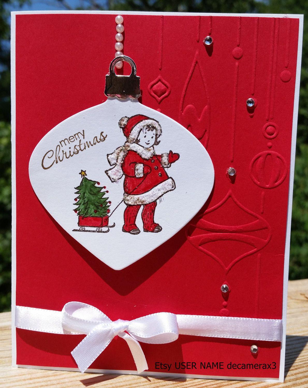 stampin' up greeting card kids handmade christmas card