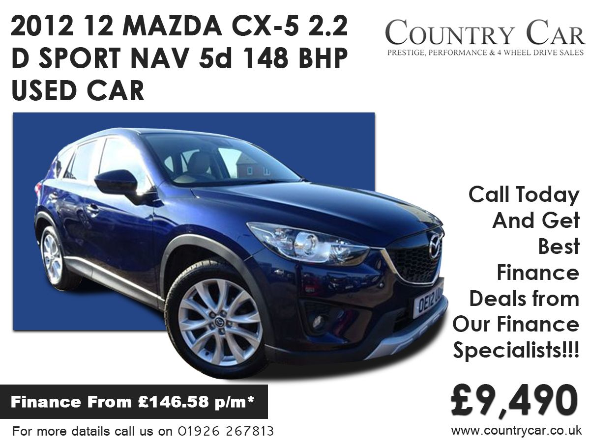 2012 12 Mazda Cx 5 2 2 D Sport Nav 5d 148 Bhp Used Car