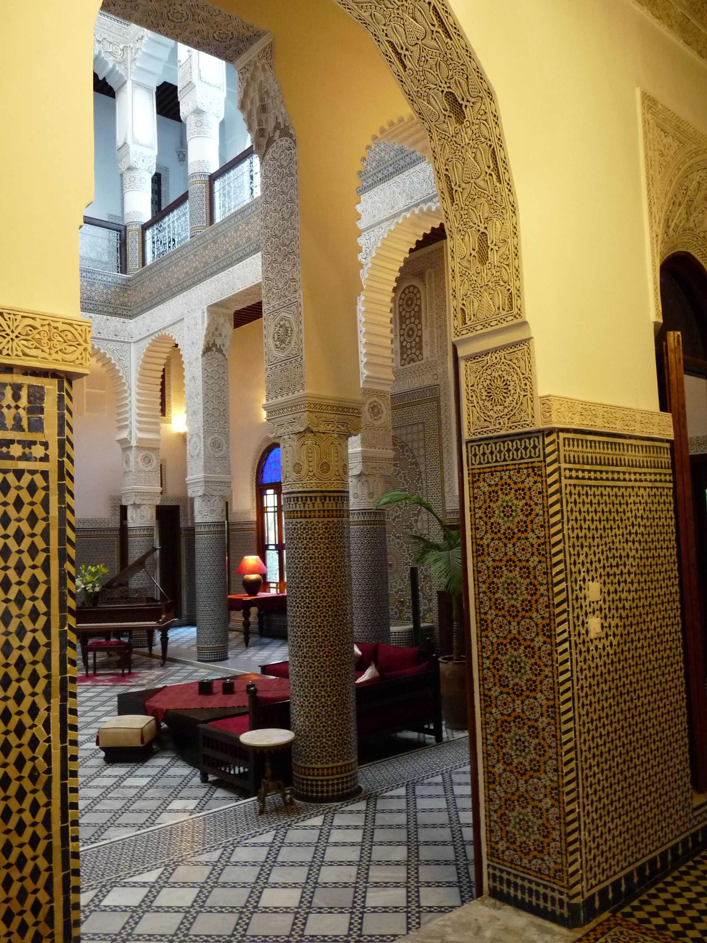 Riad Fès – Relais & Châteaux - Fez Morocco - Beautiful garden, terrace with a spectacular view of the Medina and the Middle Atlas foothills, excellent cuisine!