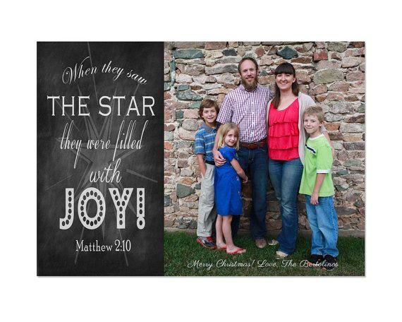 Customized Chalkboard Art Digital Christmas Card Template Matthew - Christmas card templates for photographers 2