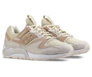 Saucony Grid 9000 Knit Pack Mens Trainers Cream Size 8.0