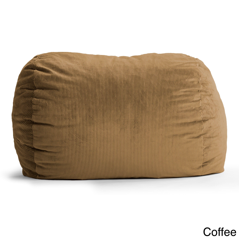 Big Joe FufSack Wide Wale Corduroy 7-foot XXL Bean Bag Chair (Coffee ...
