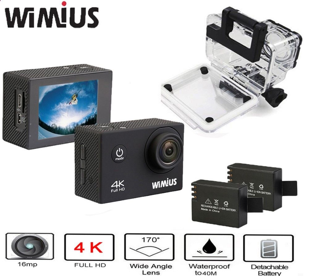 5999 Watch Now Alic8xworldwells Wimius Ultra 4k Action Cam Camera H3r Hd Bult In Remote Control Sportkameraponykaufe Jetztvideo Cameracameras
