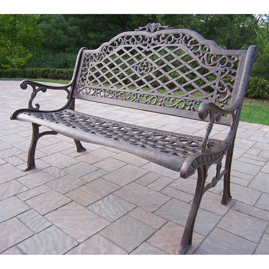 Oakland Living 40 In L Aluminum Patio Bench Lowes Com Oakland Living Outdoor Wicker Furniture Outdoor Bench