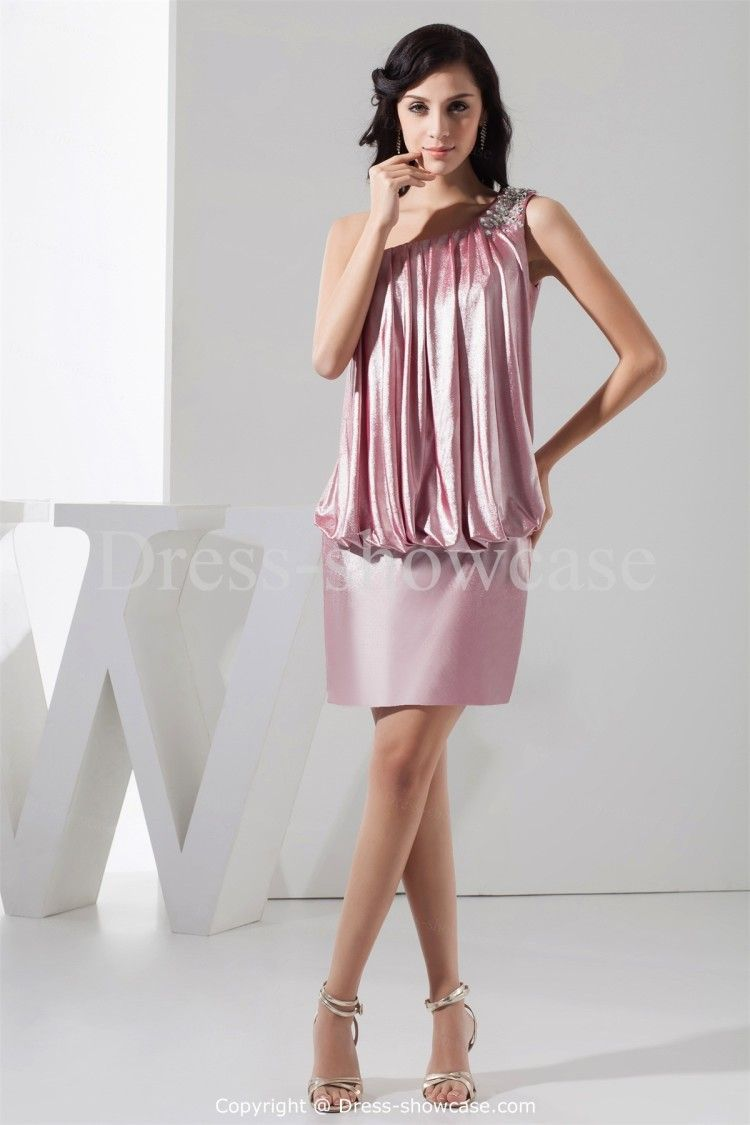 Mini jersey one shoulder sleeveless special occasion dress