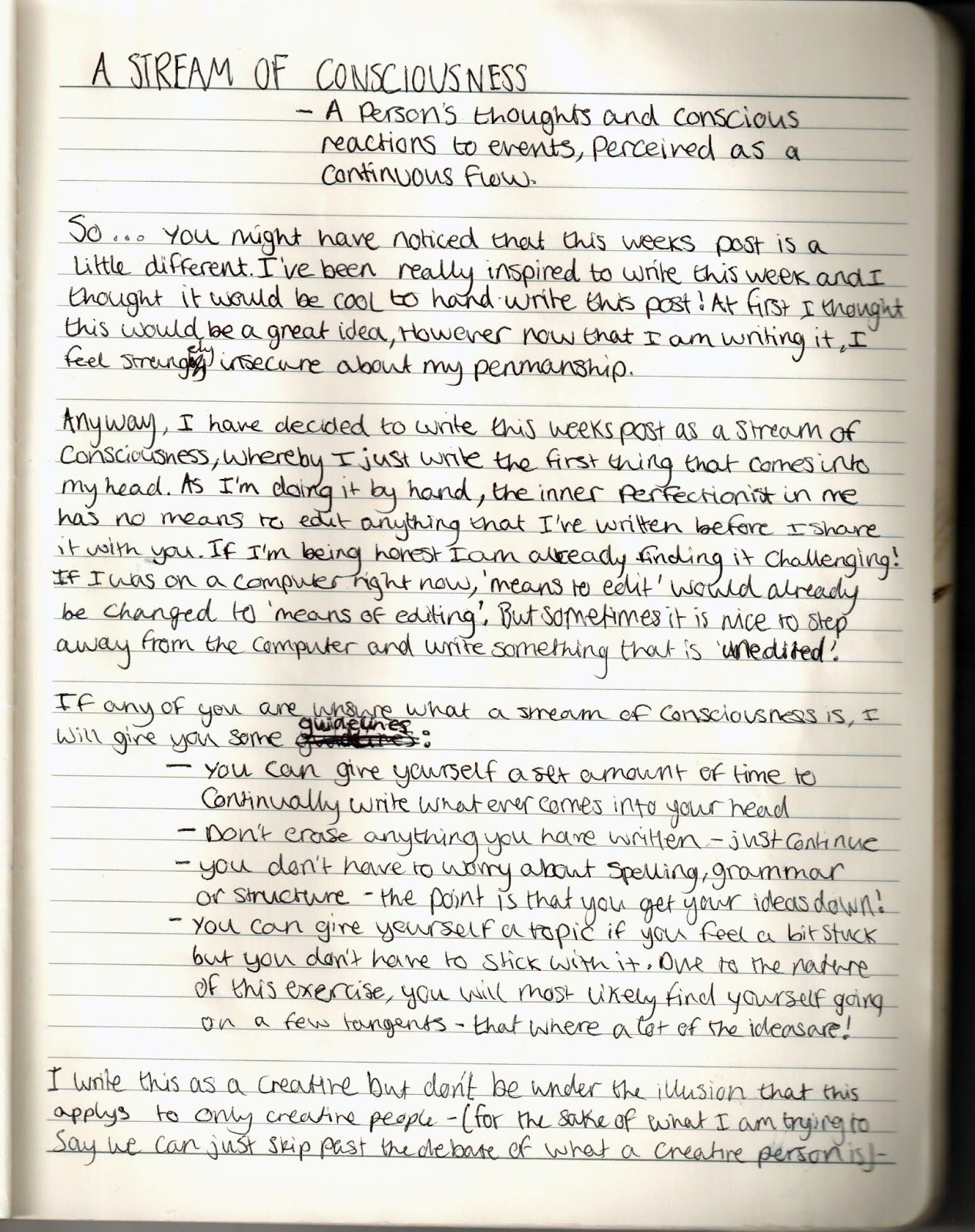 stream of consciousness examples in movies