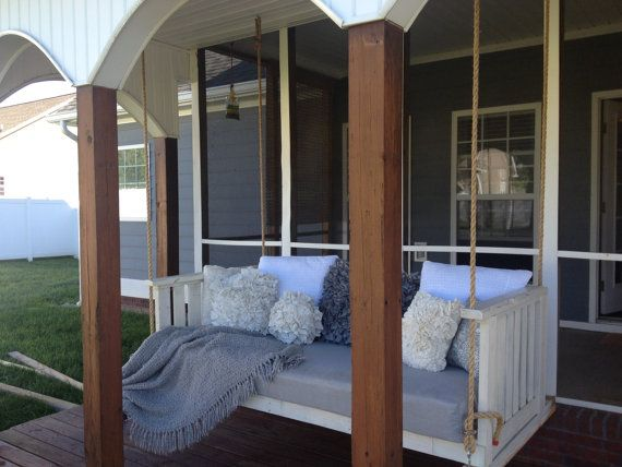 THE CLARA LYNN  Twin Sized Hanging Swing by RetroFitCustomDesign, $800.00  -  What a great swing!  Just need a good book.