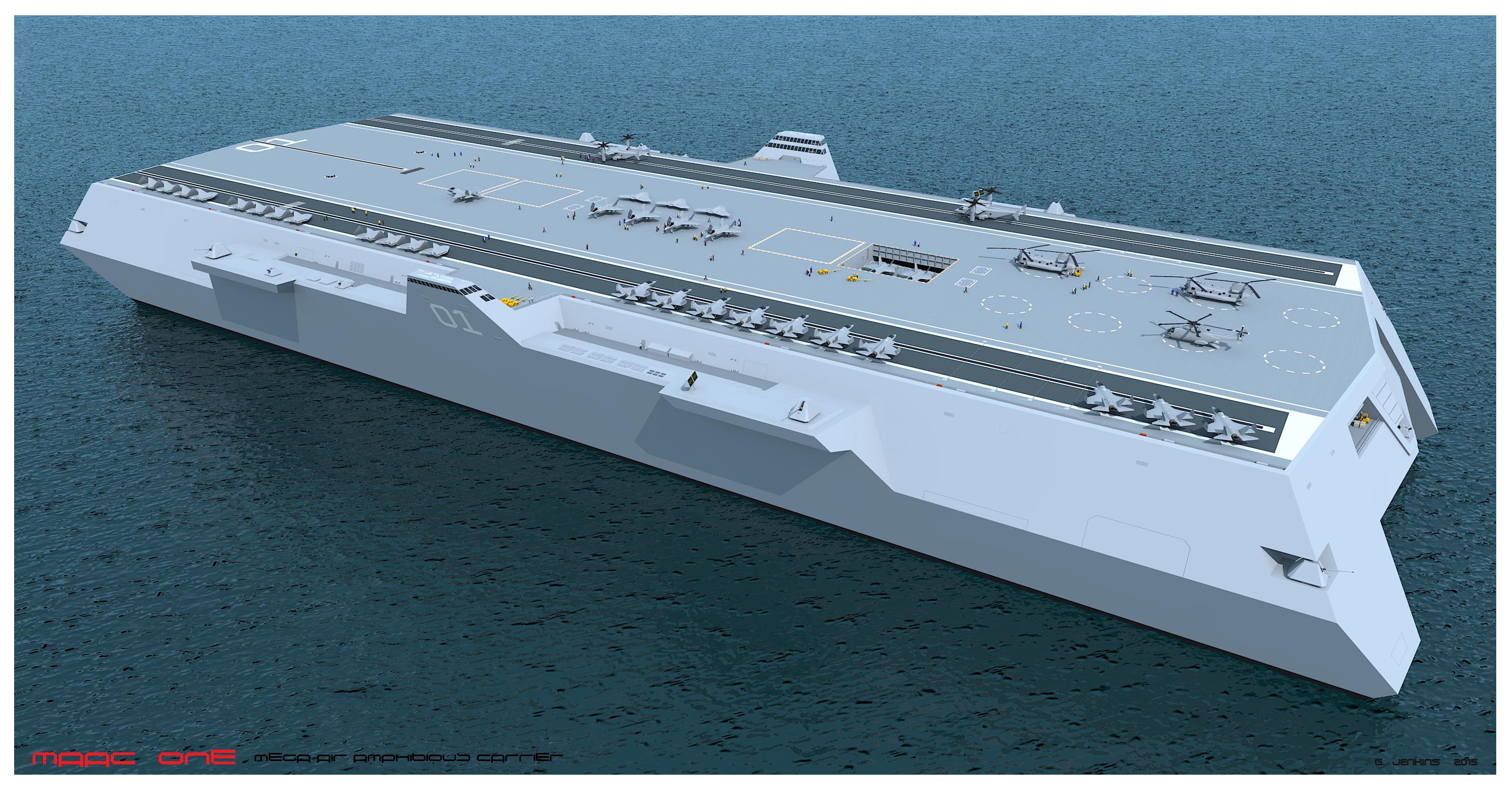 Maac One Multihull Air Amphibious Carrier By G Jenkins Catamaran Designs Pinterest