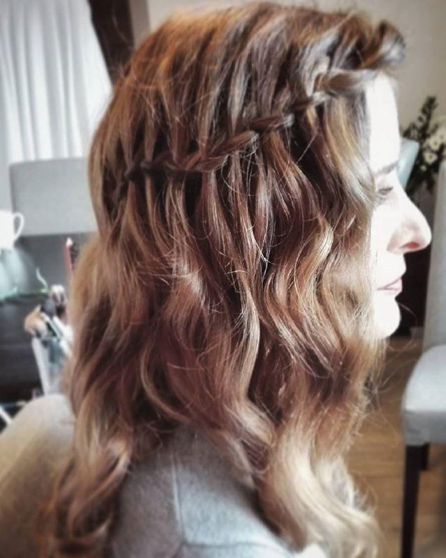 Fryzura Wesele Fale Warkocz Hairstyle Waves Braid