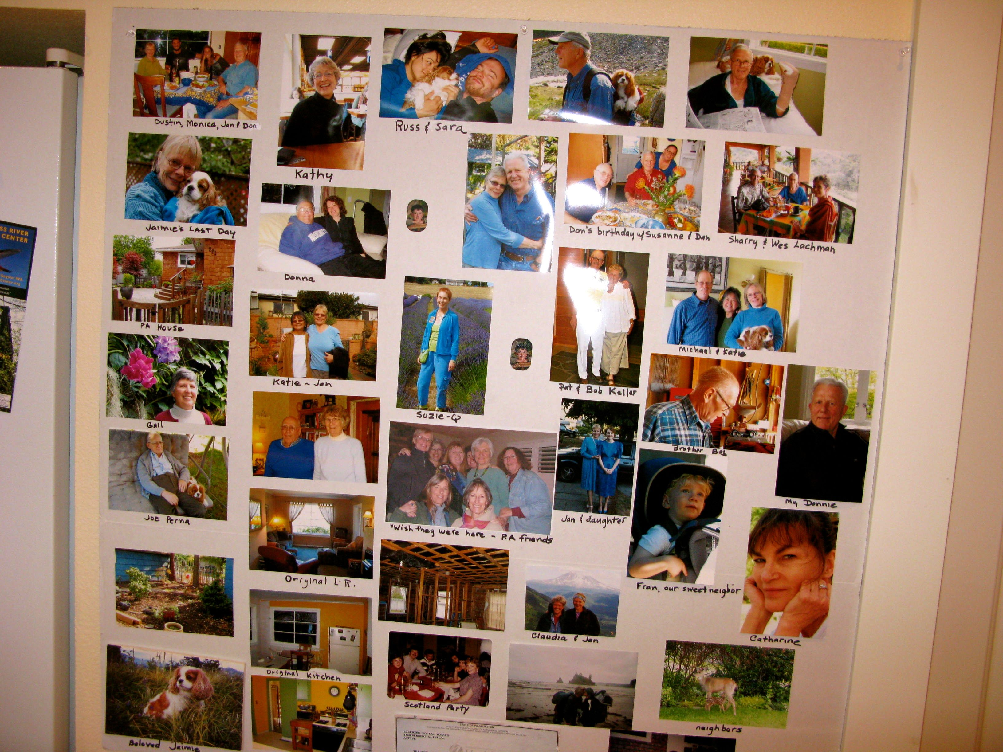 Photo display celebrating Jan's 70 glorious years.  Don't forget to click on the image to zoom in and take a closer look!