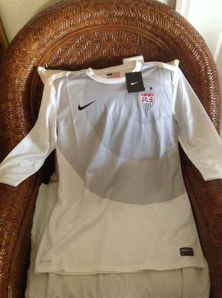 USA Nike World Cup Soccer Jersey White size L women in
