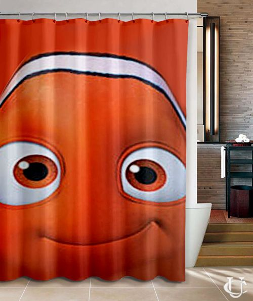 Nemo And Friends With Pixar Up Shower Curtain With Images Shower Curtain Cool Shower Curtains