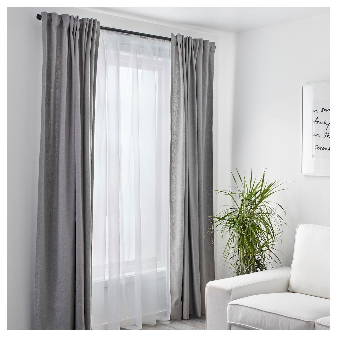 Ikea Us Furniture And Home Furnishings Curtains Living Curtains Living Room Apartment Living Room #white #drapes #in #living #room