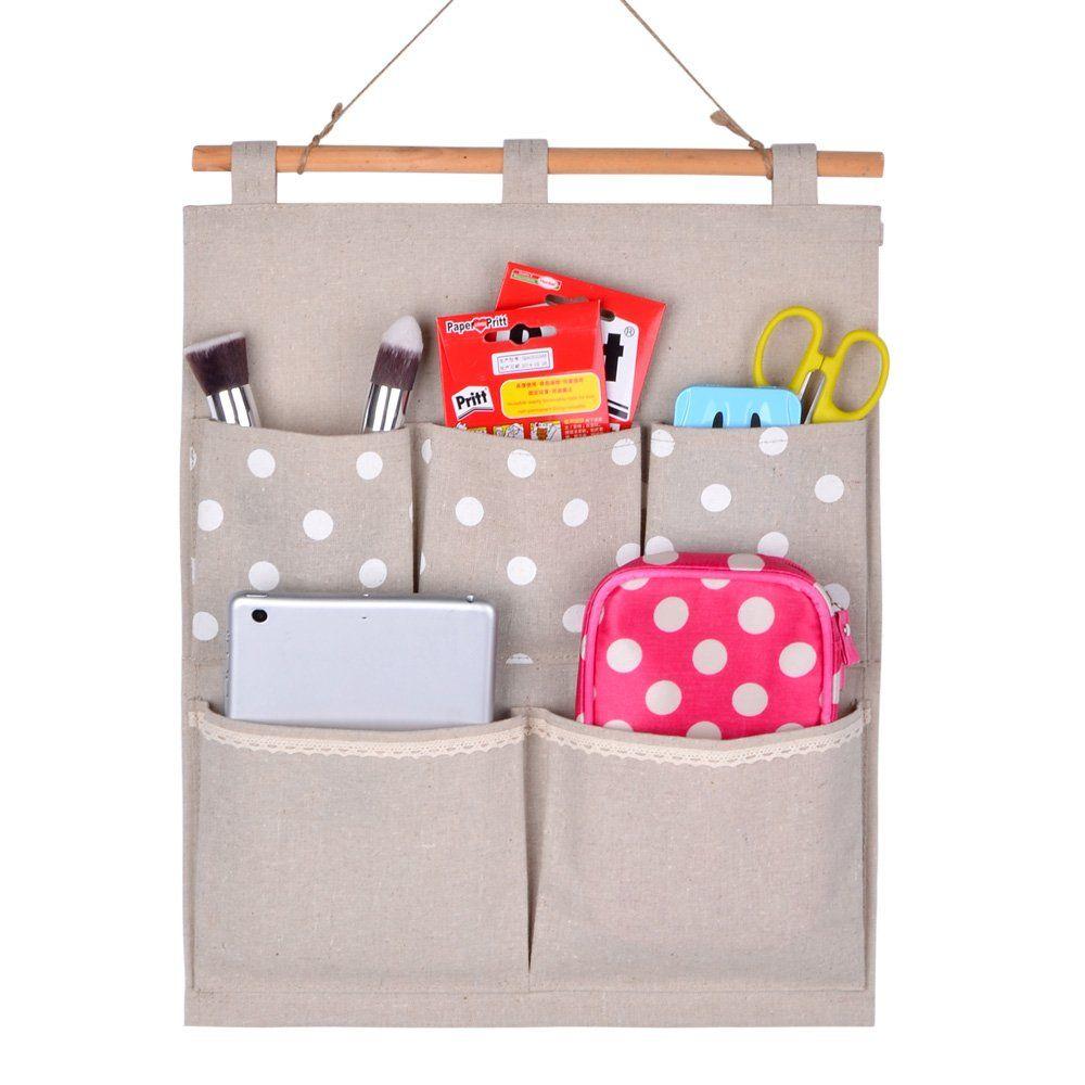 6 Pockets Wall Door Closet Hanging Storage Bag Organizer Kitchen-dream Over The Door Magazine Storage Pockets
