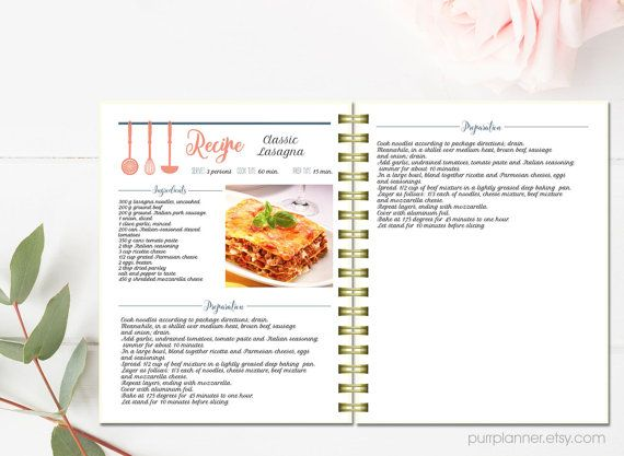 Editable cook book recipe template recipe pages pattern blank editable cook book recipe template recipe pages pattern blank recipe book instant forumfinder Images