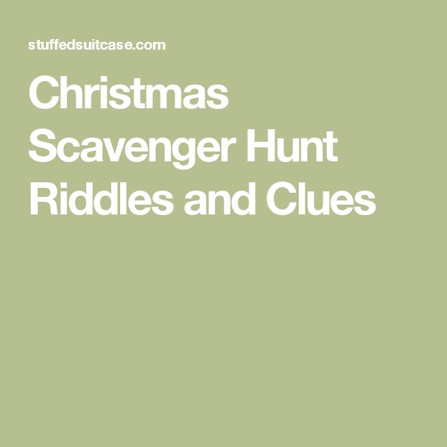 Christmas Gift Scavenger Hunt Riddles: Christmas Scavenger Hunt Riddles And Clues