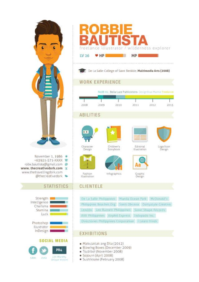 20 Cool Resume \ CV Designs Resume cv and Infographic resume - cool resume designs