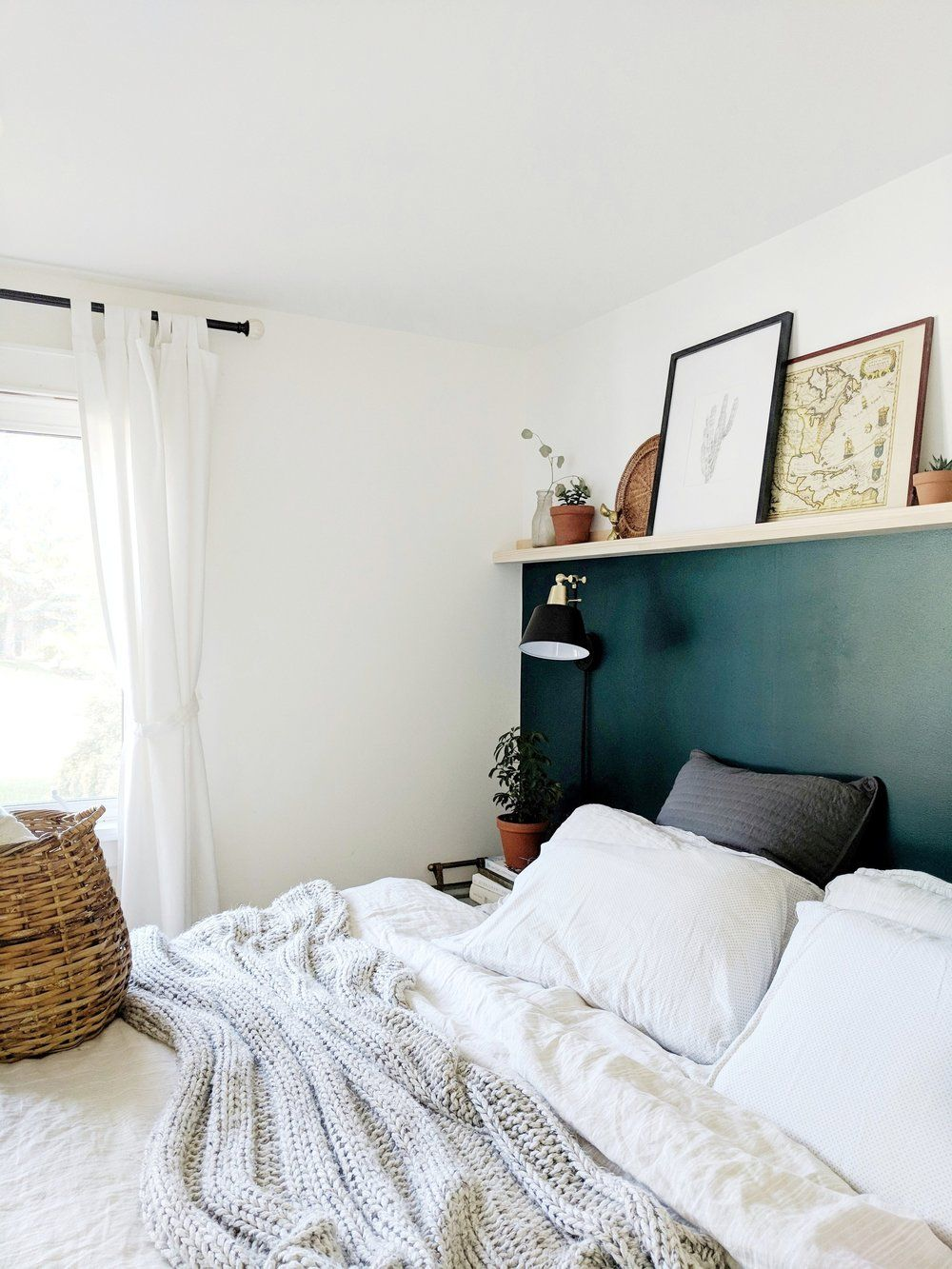 Photo of MASTER BEDROOM | WALL TO WALL PICTURE LEDGE — k i r s t e n d i a n e