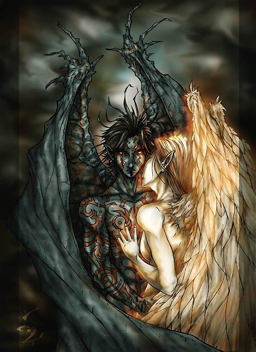 good and evil   Light and the darkness   Demon art, Anime ...