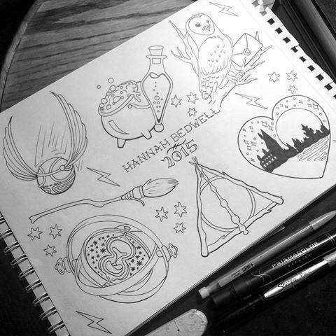 Harry Potter Harry Potter Harrypottertattoos Harry Potter Tattoos Zeichnen Ideen Ideen Furs Zeichnen