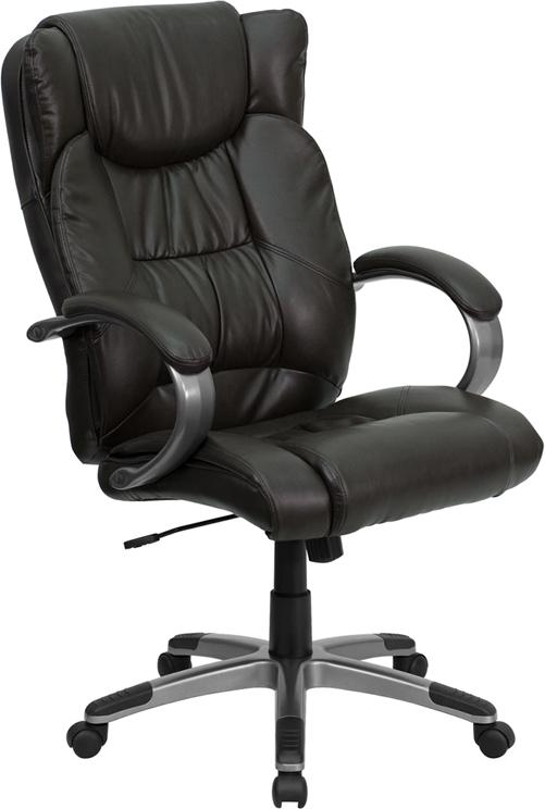 Photo of Brown High Back Leather Chair
