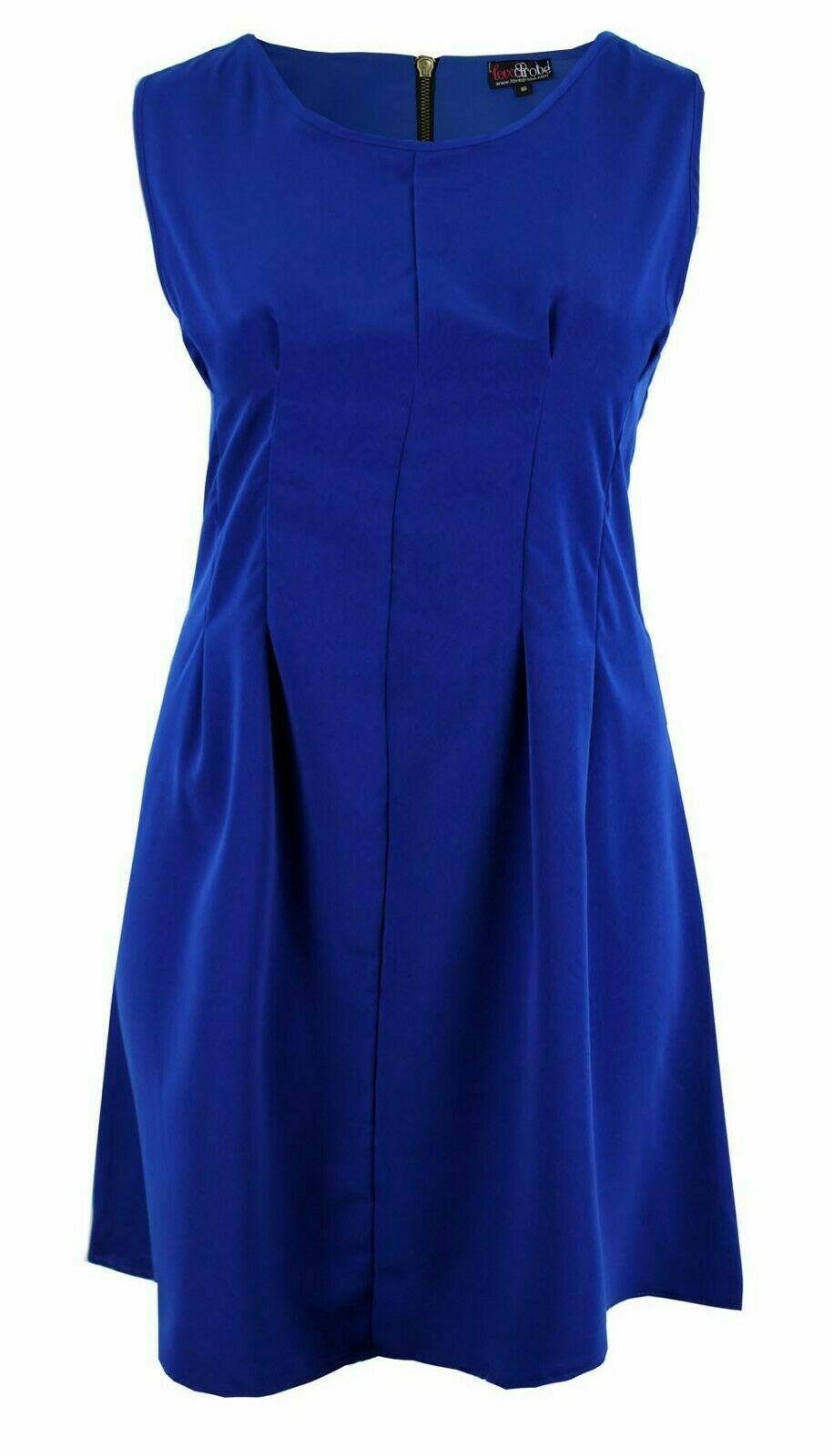 kleid gr.46 blau sommerkleid festlich damen kurz rockabilly
