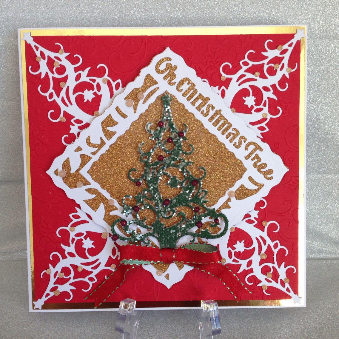 Tonic Studios Christmas Tree Die And Oh Christmas Tree Frame Nuvo