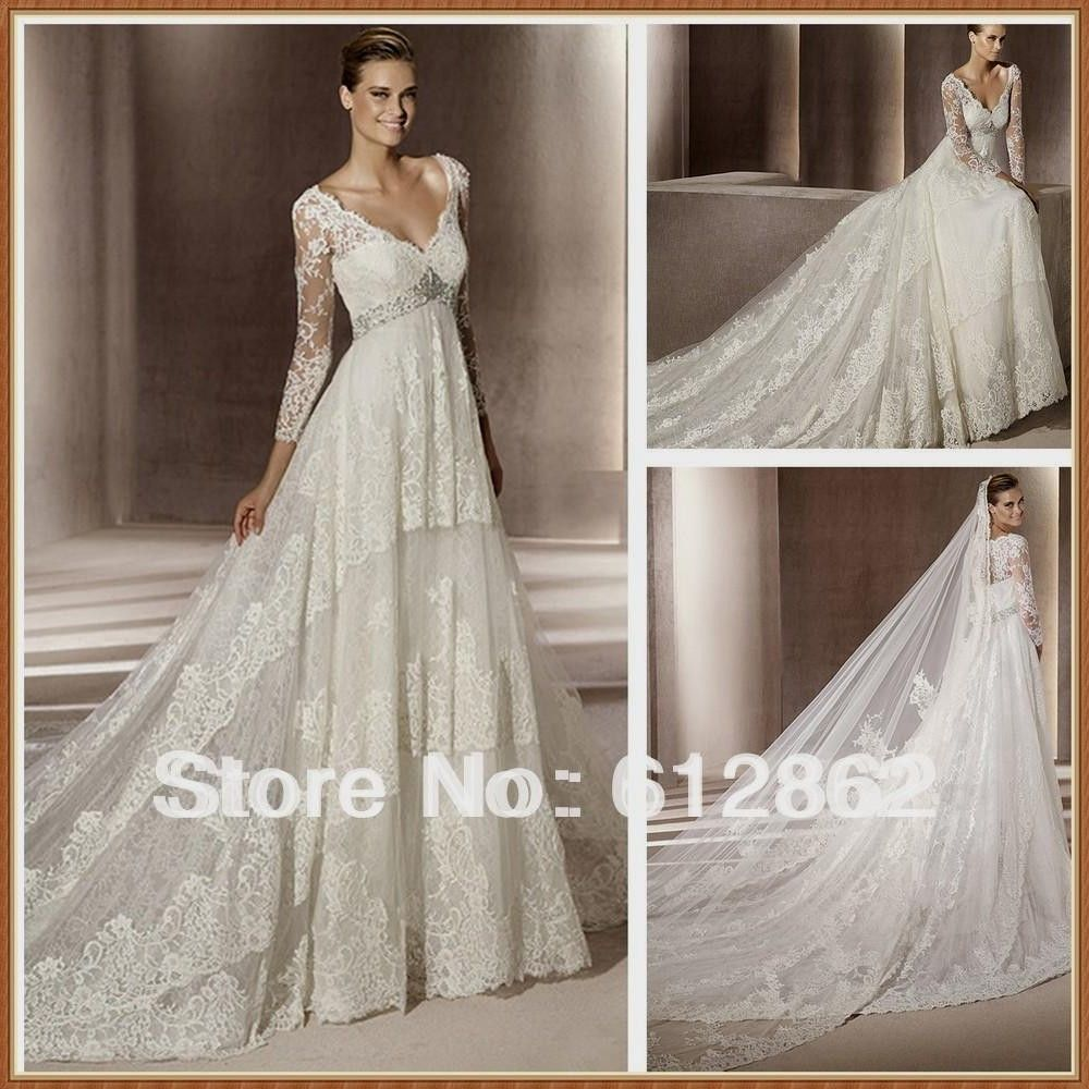 Empire Waist Wedding Dresses with Sleeves - Best Shapewear for ...