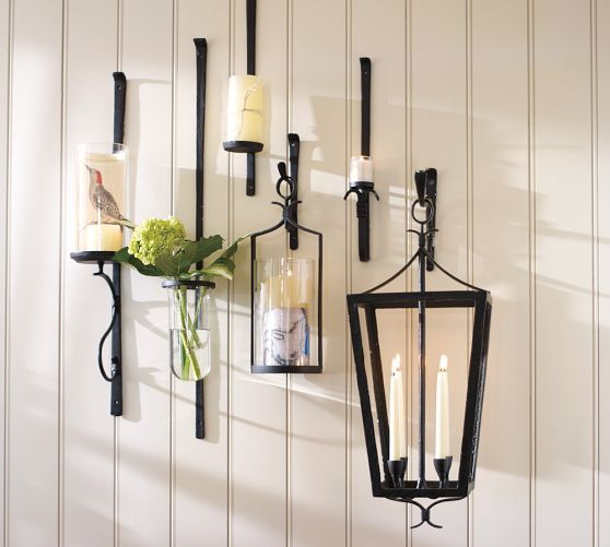 Artisanal Candle Holders  Pottery Barn  Art & Wall Decor Amusing Candle Wall Sconces For Dining Room Design Ideas