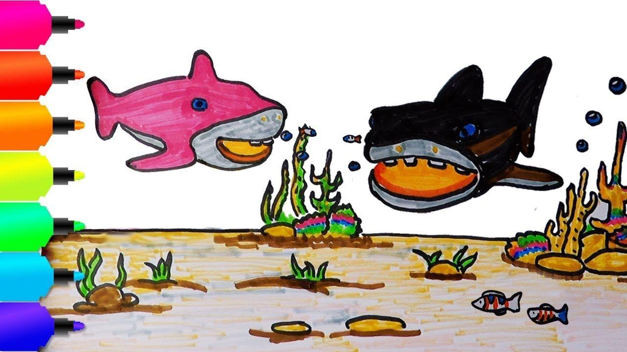Cara Menggambar Dan Mewarnai Ikan Warna Warni Dibawah Laut Learn