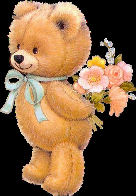 Картинки мишки с цветочками