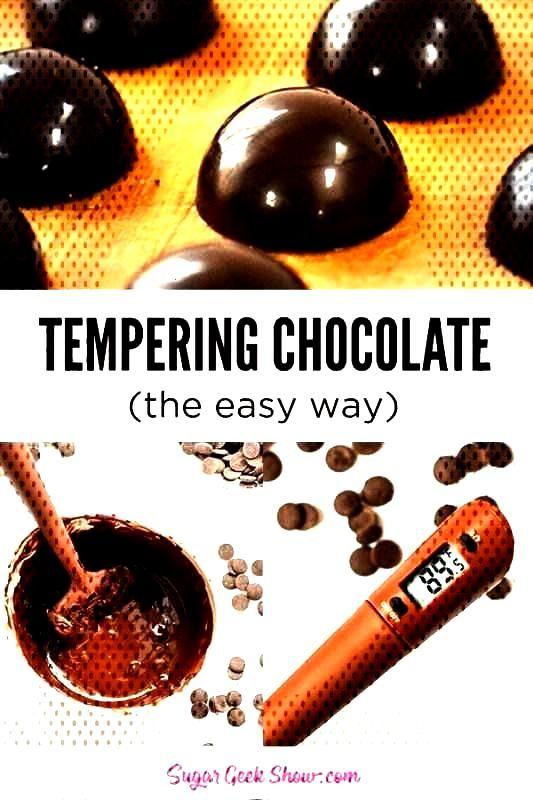 Tempering chocolate the easy way (Dark + Milk + White) | Sugar Geek Show - Tempering chocolate is