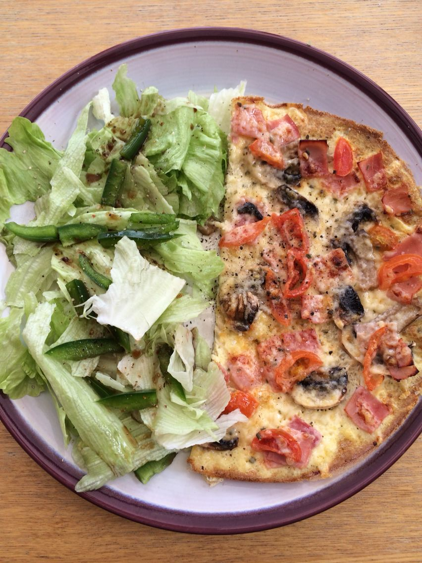 Syn Free Farmhouse Pizza Omelette Great Lunch Idea 3 Egg Made In Frying
