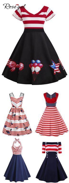 Free Shipment Worldwide Rosegal Vintage Dress Retro Fashion
