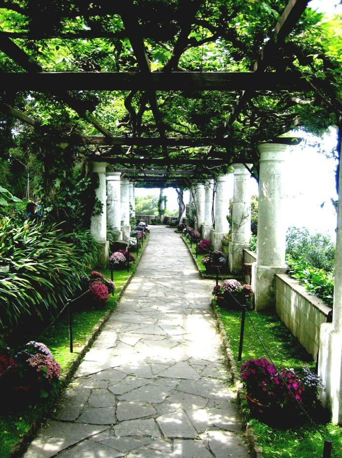 Gartenwege Gestalten Bodenbelag Garten Stilvolle Gartenideen
